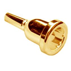 """Bach 5 Megatone Gold Small Shank Trombone Mouthpiece 413 Backbore .234/"""" Throat"""