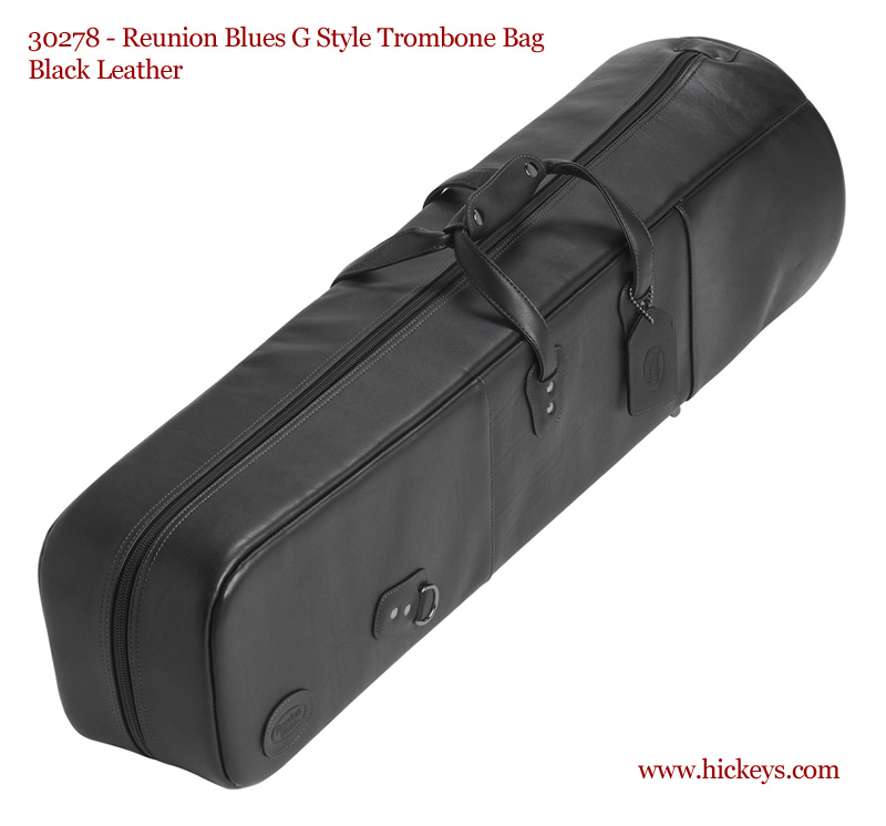 reunion blues 502 g style bass trombone gig bag standard leather black bass trombone gig. Black Bedroom Furniture Sets. Home Design Ideas