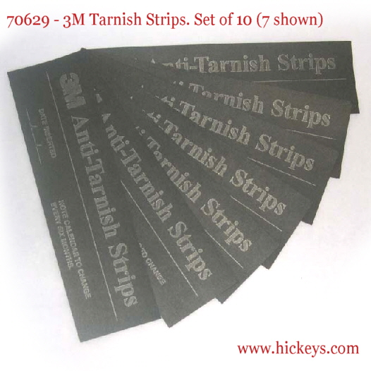 "Sax 100 Pack 3M Anti-Tarnish Strips 2/"" x 7/"" Clarinet"