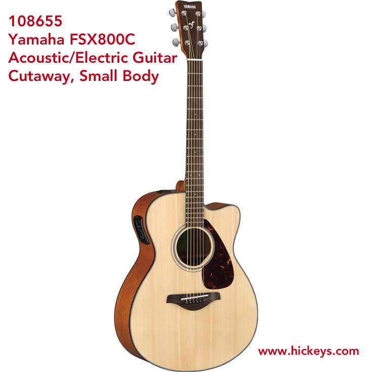 yamaha fsx800c acoustic electric guitar cutaway small body natural acoustic guitars new. Black Bedroom Furniture Sets. Home Design Ideas