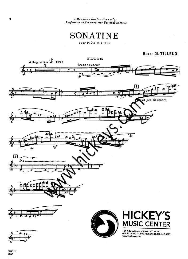 dutilleux sonatine Henri dutilleux - composer - sonata for oboe and piano (1947) - music sales classical.
