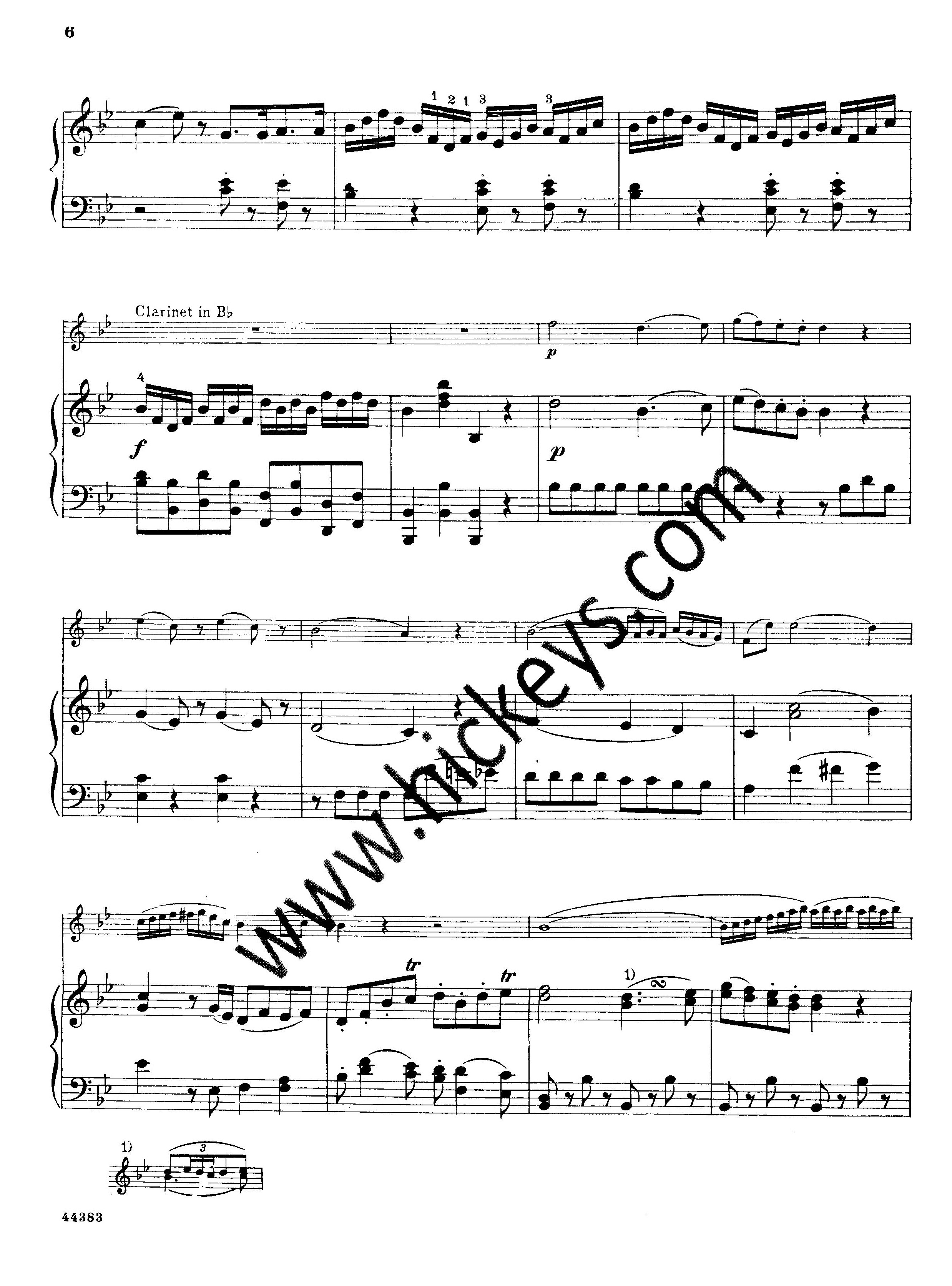 Mozart, Wolfgang Amadeus (Simon) Concerto in Bb, K 622 for