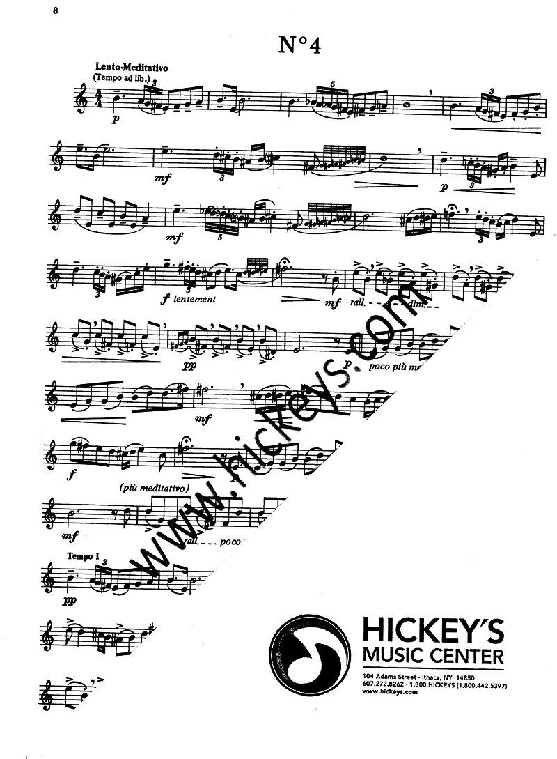 Piazzolla, Astor Tango Etudes for Violin Solos - Unaccompanied