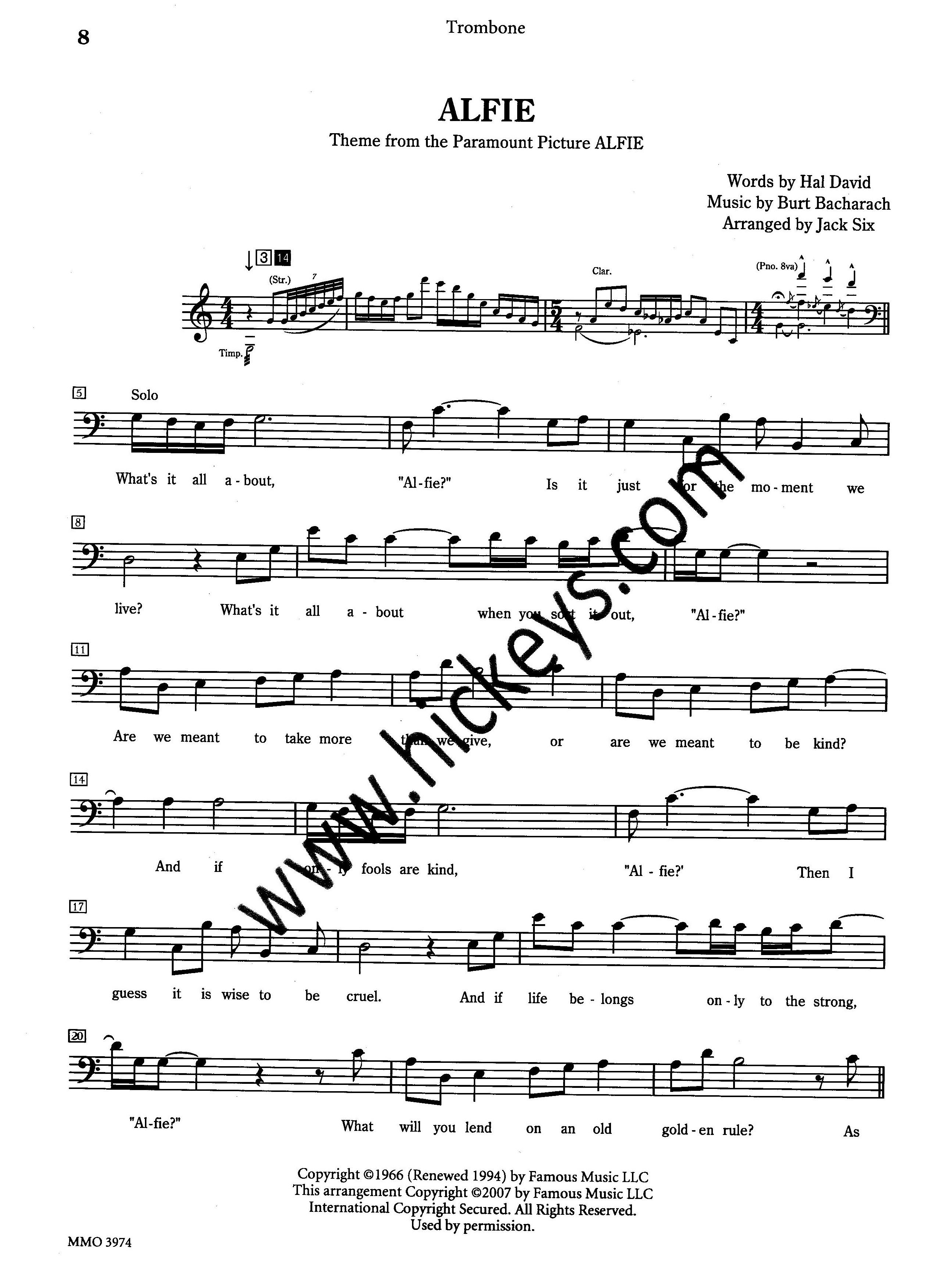 how to read trombone music
