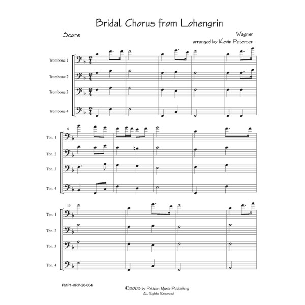 Bridal March From Lohengrin: Trombone Quartets
