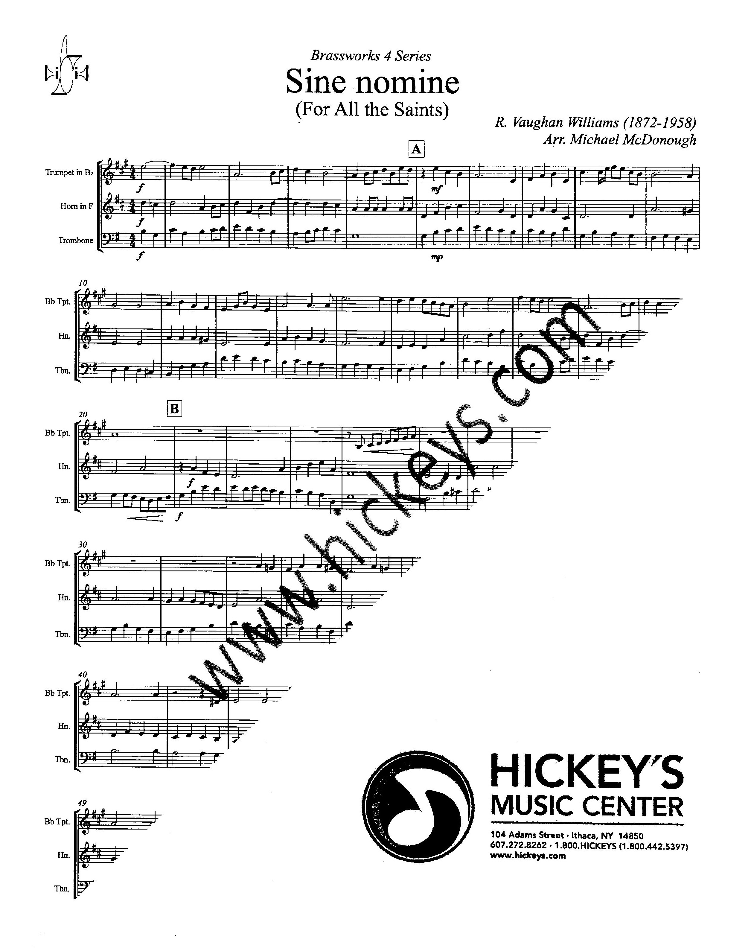 sine nomine vaughan williams pdf
